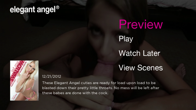 Elegant Angel Roku channel screenshot